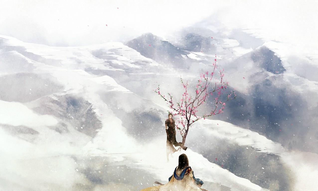 Hình ảnh anime cổ trang núi tuyết trùng trùng