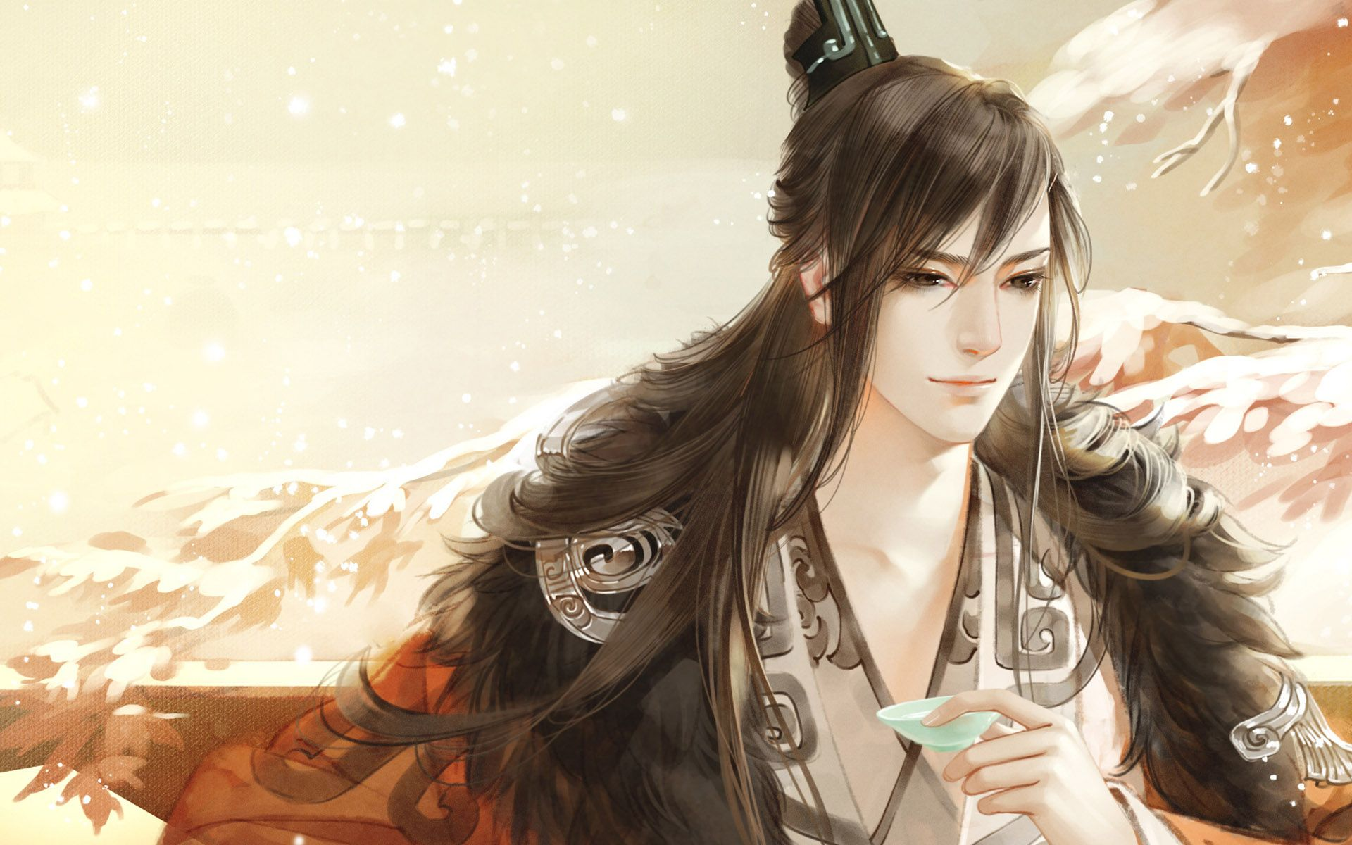 Hình ảnh anime cổ trang sắc thái vương giả