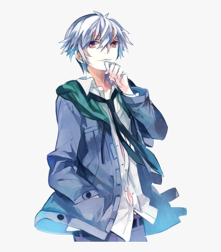 Hình ảnh anime tóc bạch kim cậu thiếu niên tươi tắn