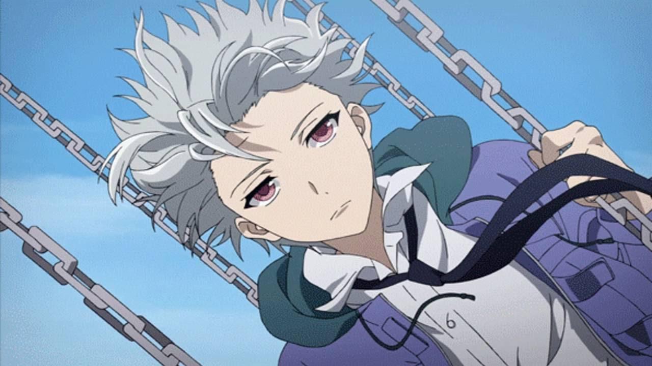 Hình ảnh anime tóc bạch kim dây xích cực ngầu