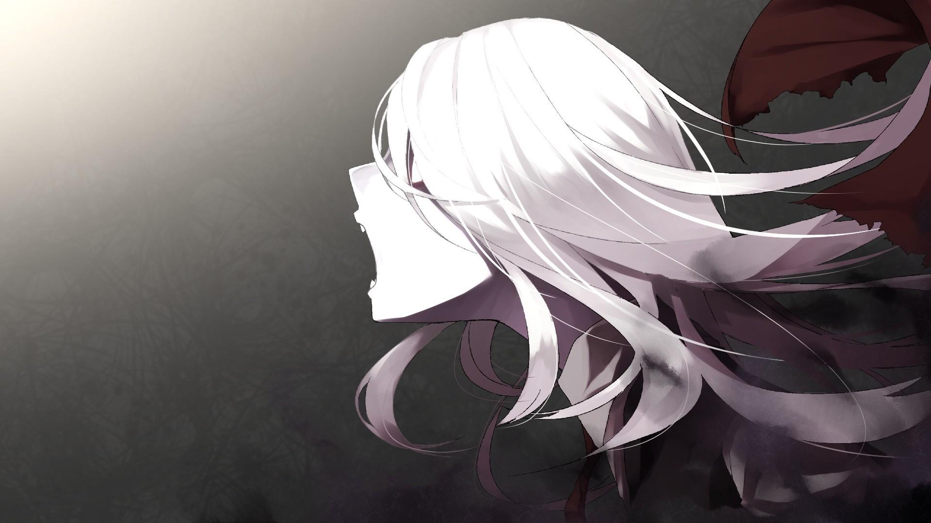 Hình ảnh anime tóc bạch kim gào thét