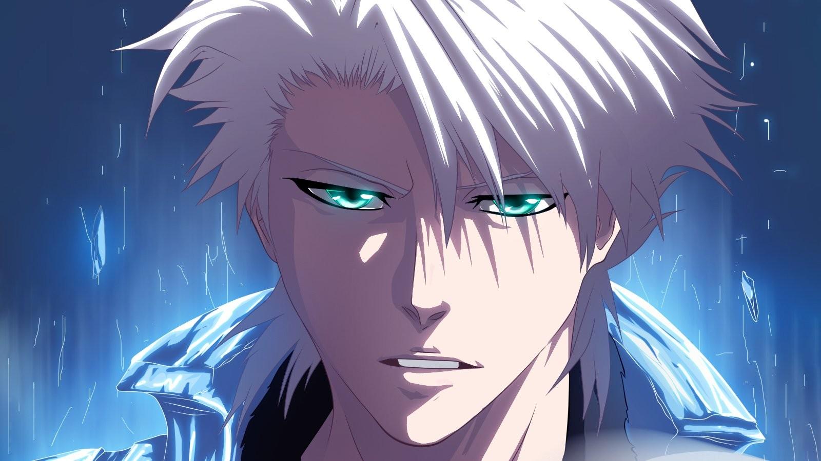 Hình ảnh anime tóc bạch kim mắt xanh sói cực ngầu