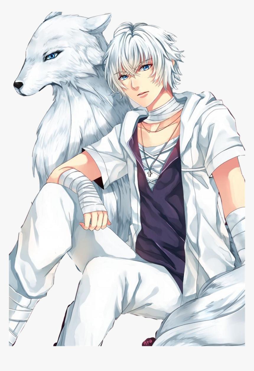 Hình ảnh anime tóc bạch kim sói trắng