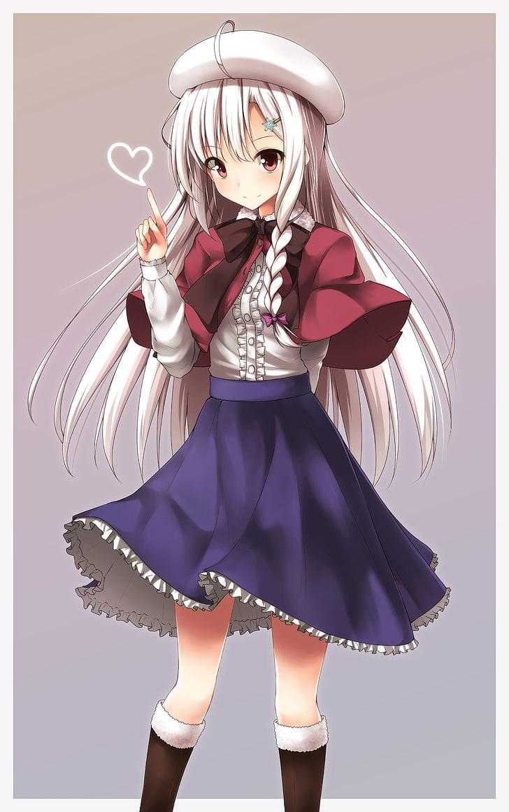 Hình ảnh anime tóc bạch kim thiếu nữ đài các