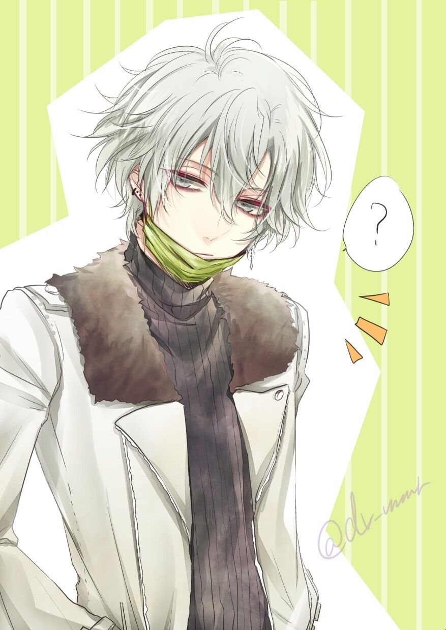 HÌnh ảnh anime tóc trắng mắt buồn