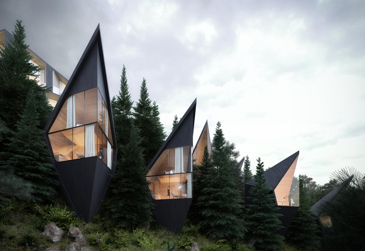 Hình ảnh các ngôi nhà hiện đại ở trên cây