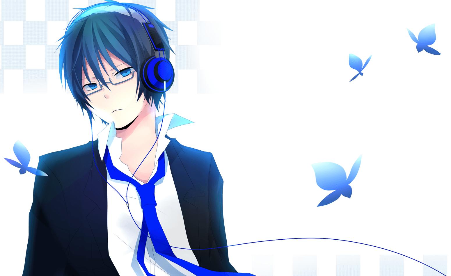 Hình ảnh chàng trai lạnh lùng tóc xanh