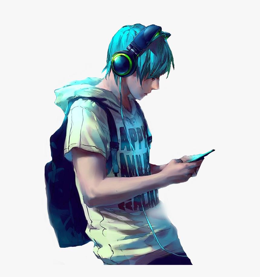 Hình ảnh chàng trai tóc xanh lạnh lùng