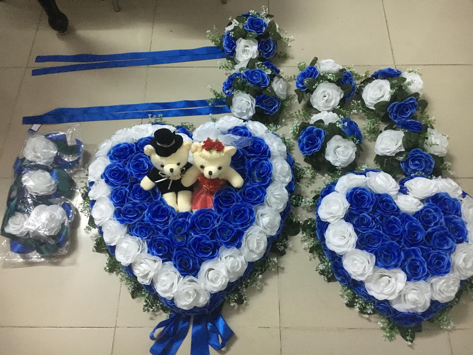 Hình ảnh hoa hồng xanh giả