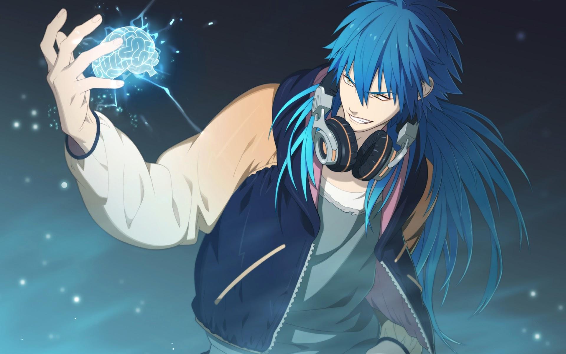 Hình ảnh nam lạnh lùng tóc xanh cực đẹp