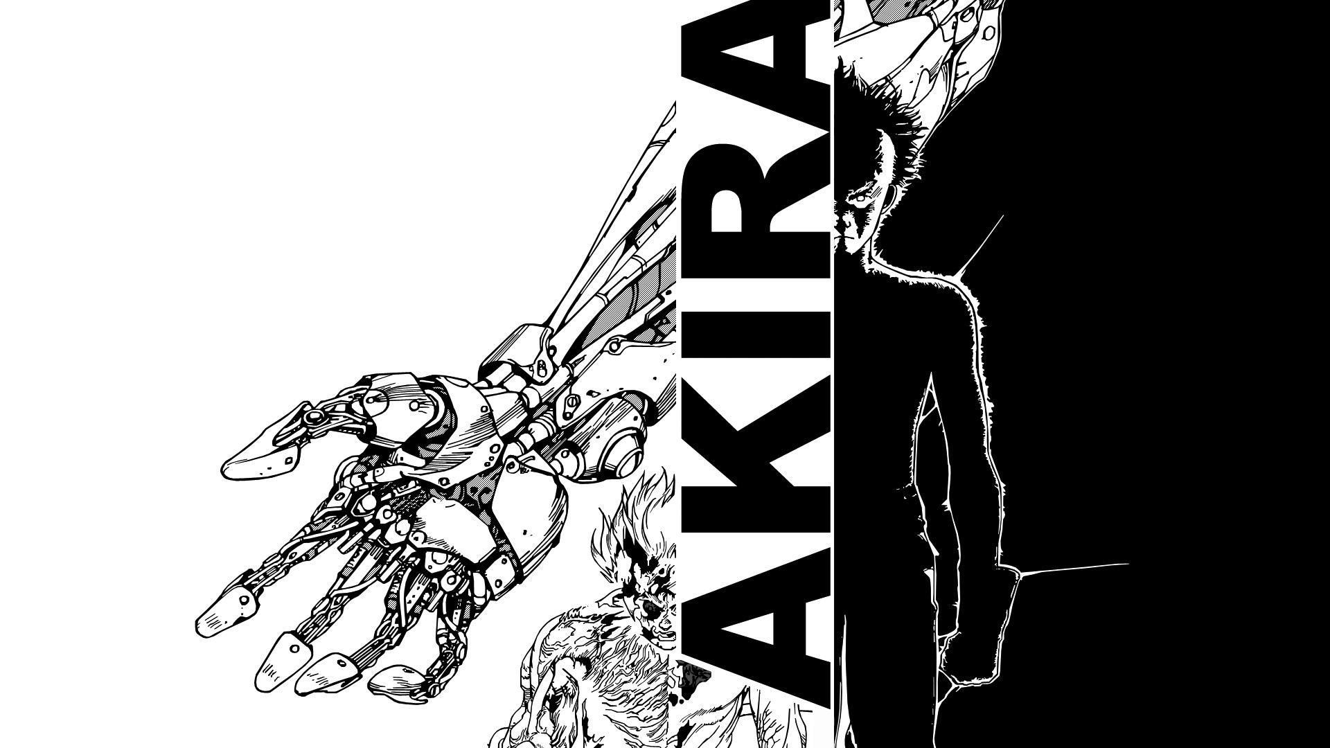 Hình nền anime đen trắng Akira