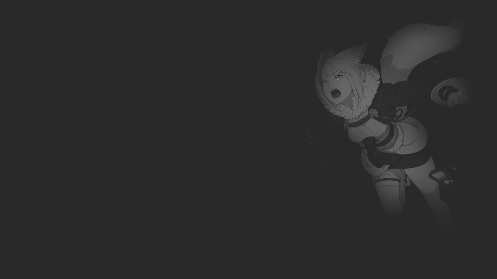 Hình nền anime đen trắng cô nàng tai cáo