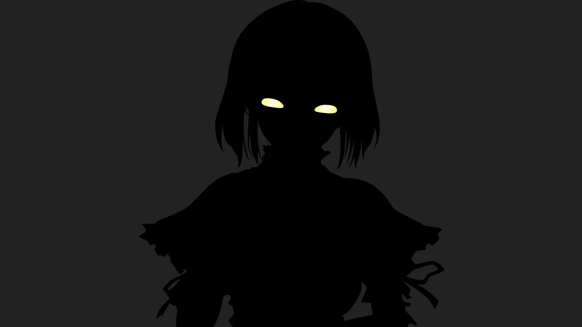 Hình nền anime đen trắng mỹ nữ nguy hiểm