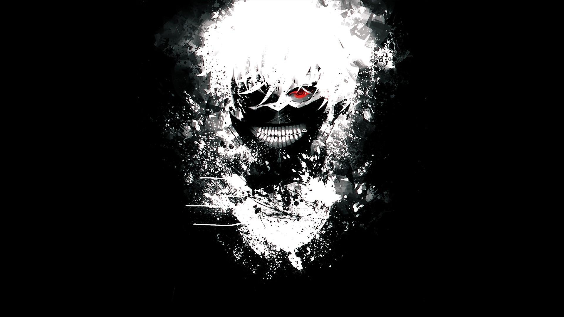 Hình nền anime đen trắng Tokyo Ghoul