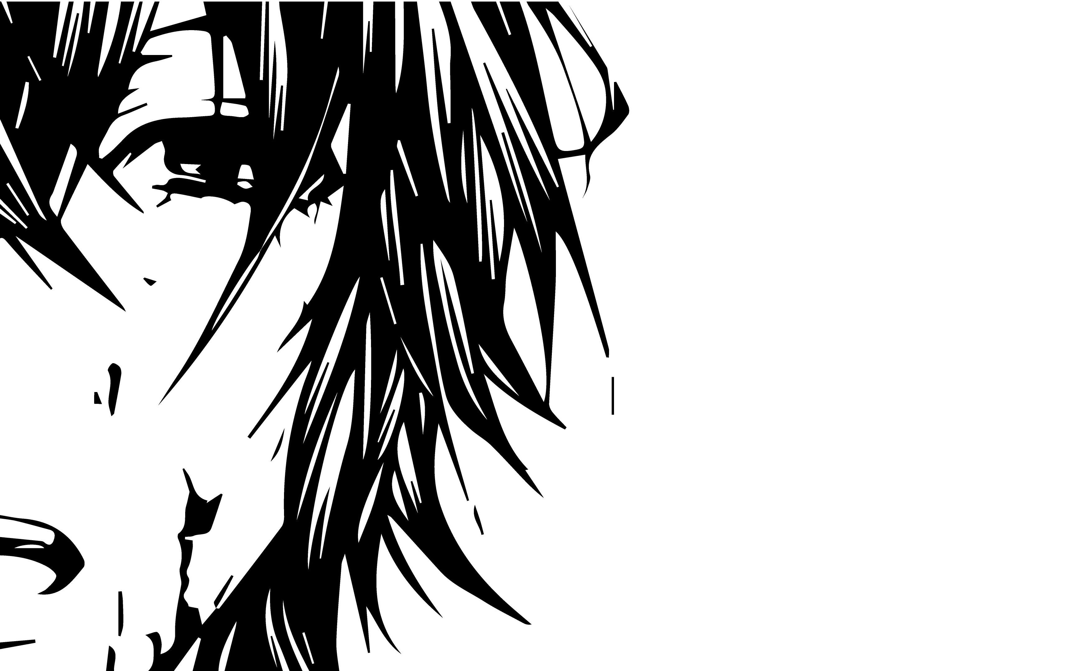 Hình nền đen trắng anime cực đẹp