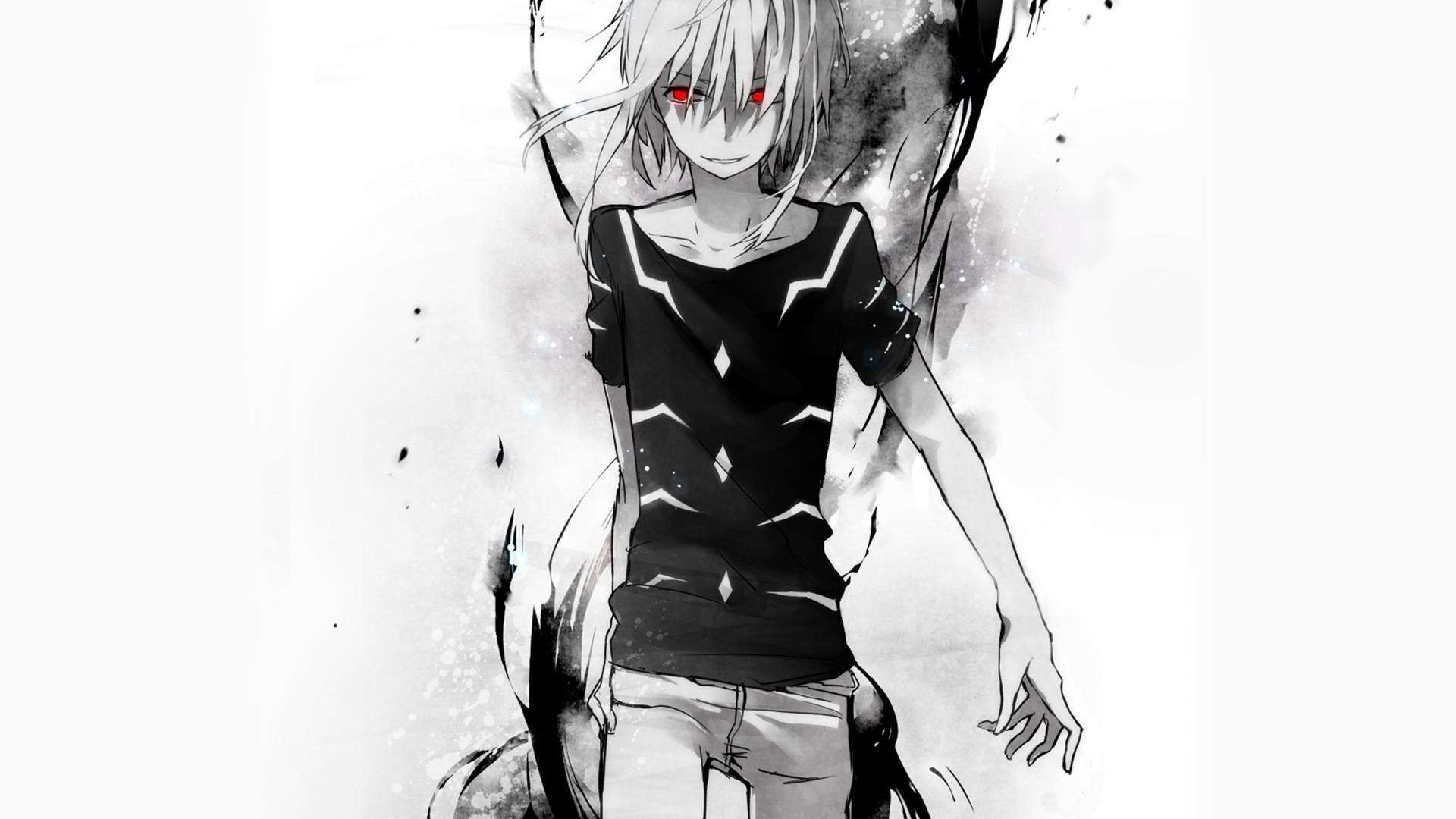 Hình nền đen trắng anime cực ngầu