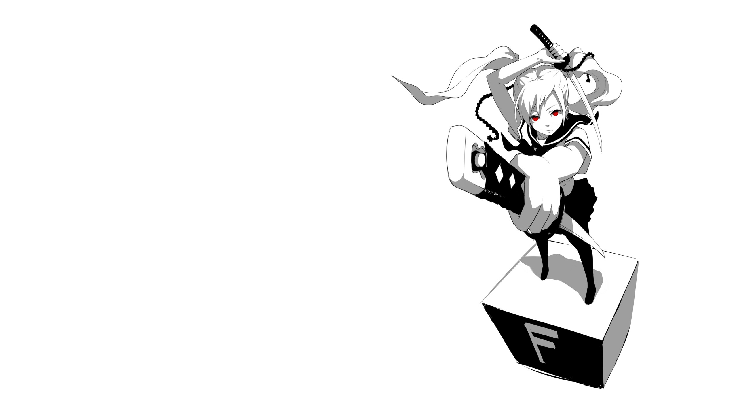 Hình nền đen trắng anime đẹp