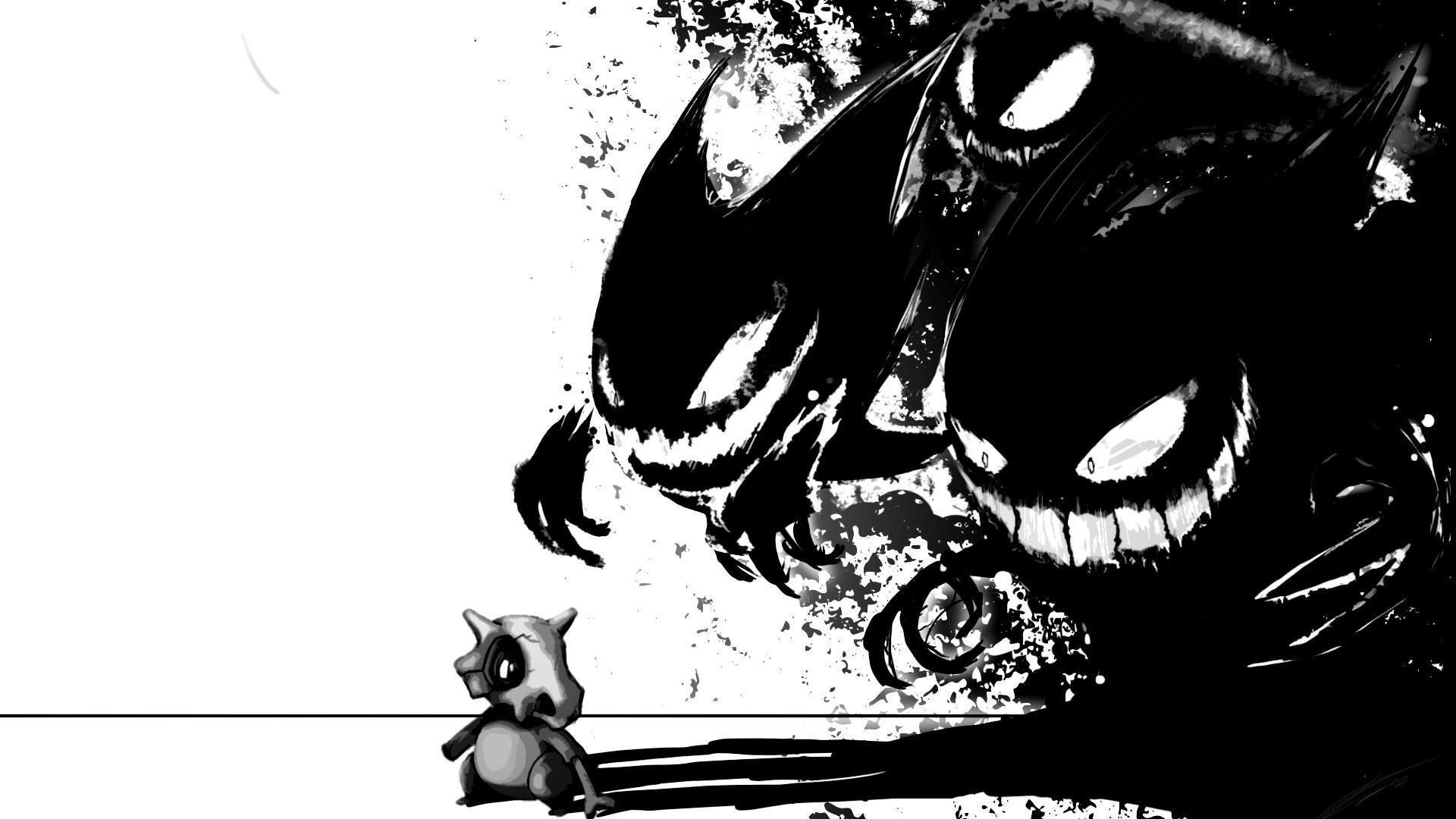 Hình nền đen trắng anime Pokemon
