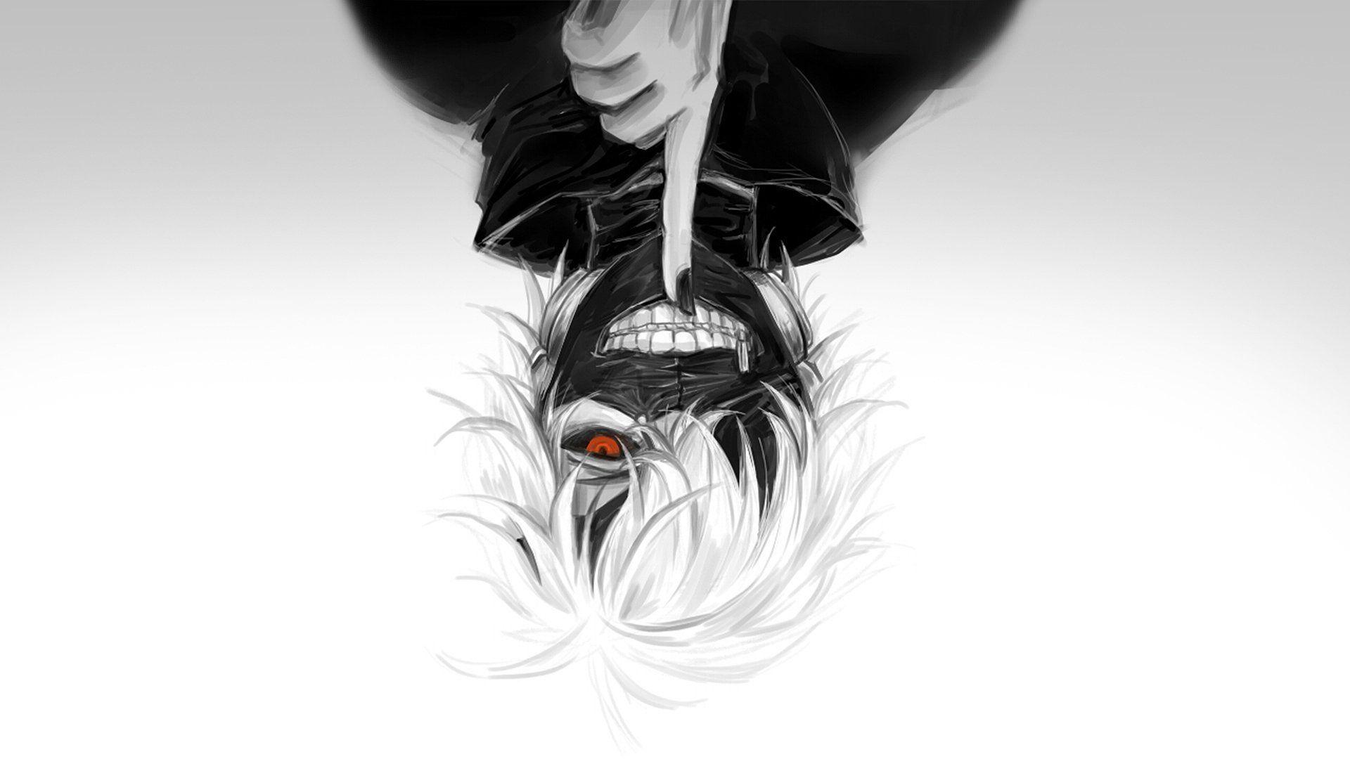 Hình nền đen trắng anime Tokyo Ghoul cực đẹp