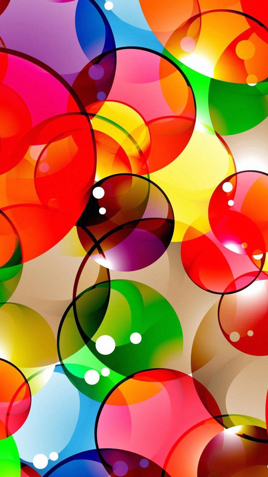 Hình nền điện thoại bong bóng màu sắc