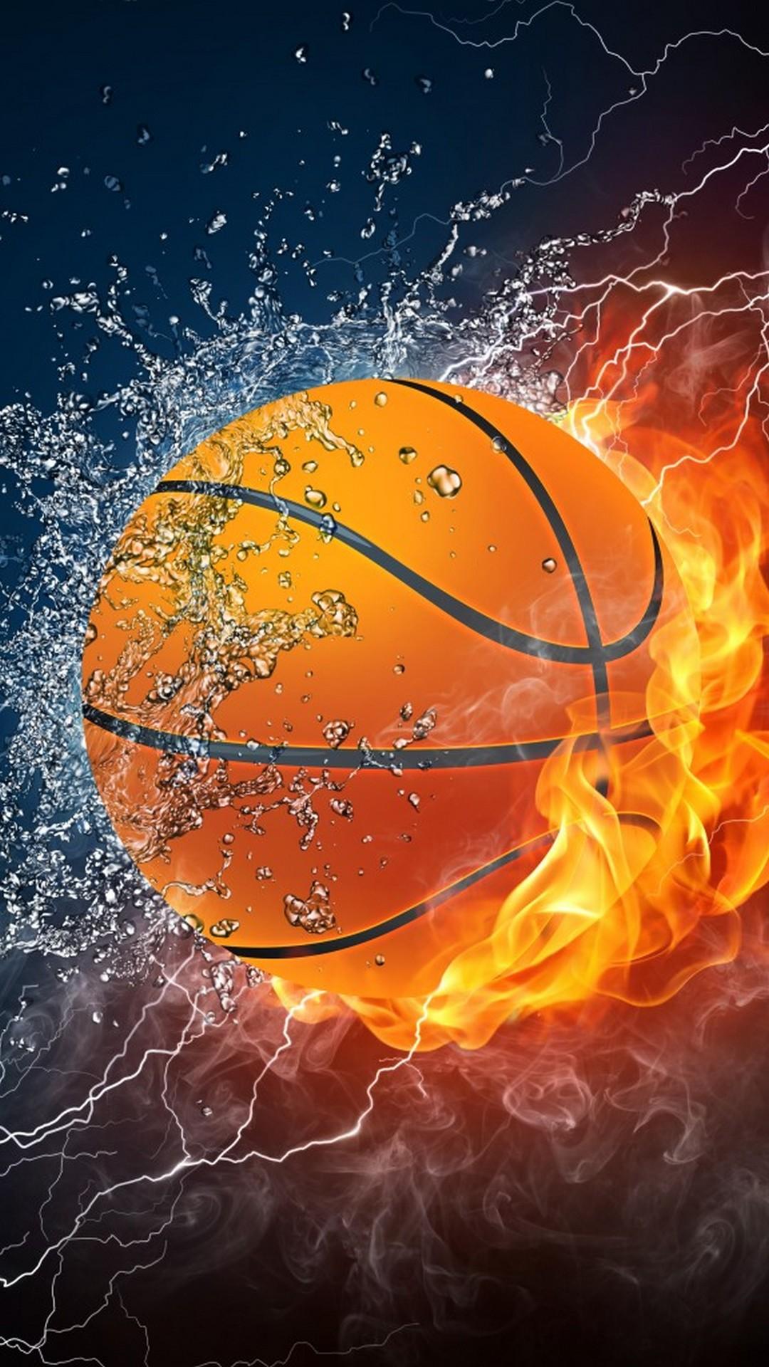 Hình nền điện thoại bóng rổ vung nước