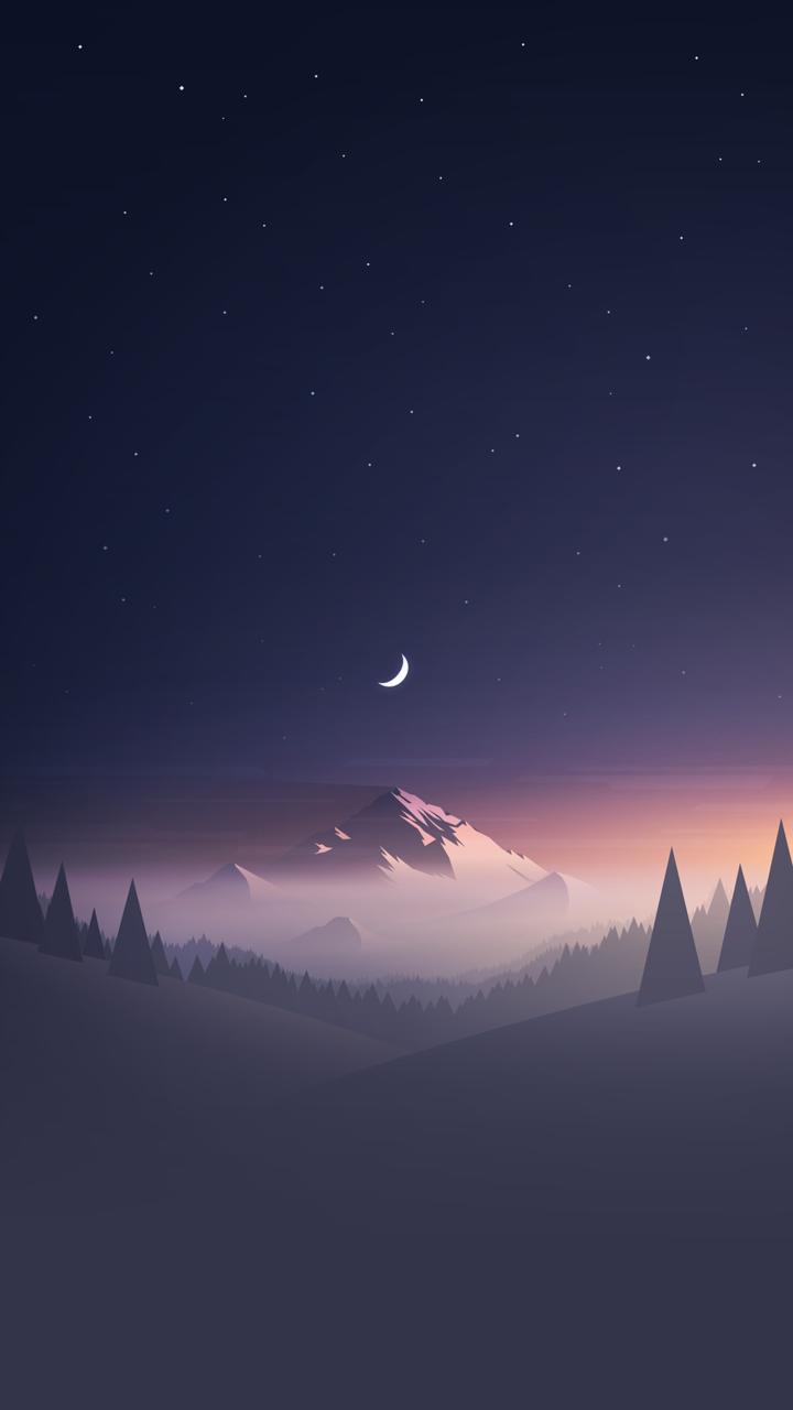 Hình nền điện thoại trời trăng cực đẹp