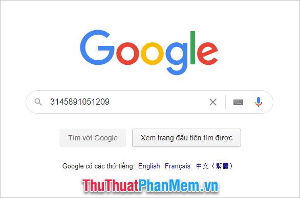 Chọn Tìm với Google