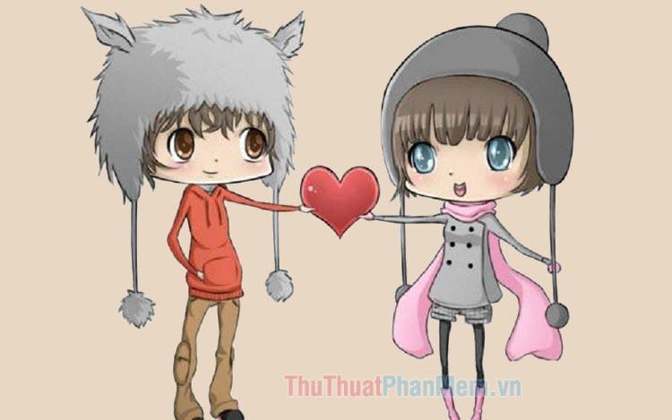Hình ảnh hoạt hình dễ thương về tình yêu