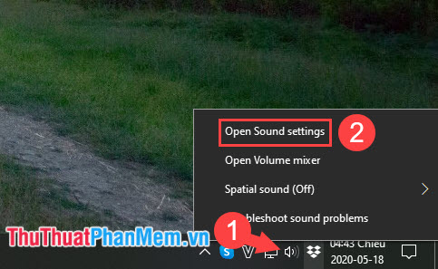 Chọn Open Sound settings