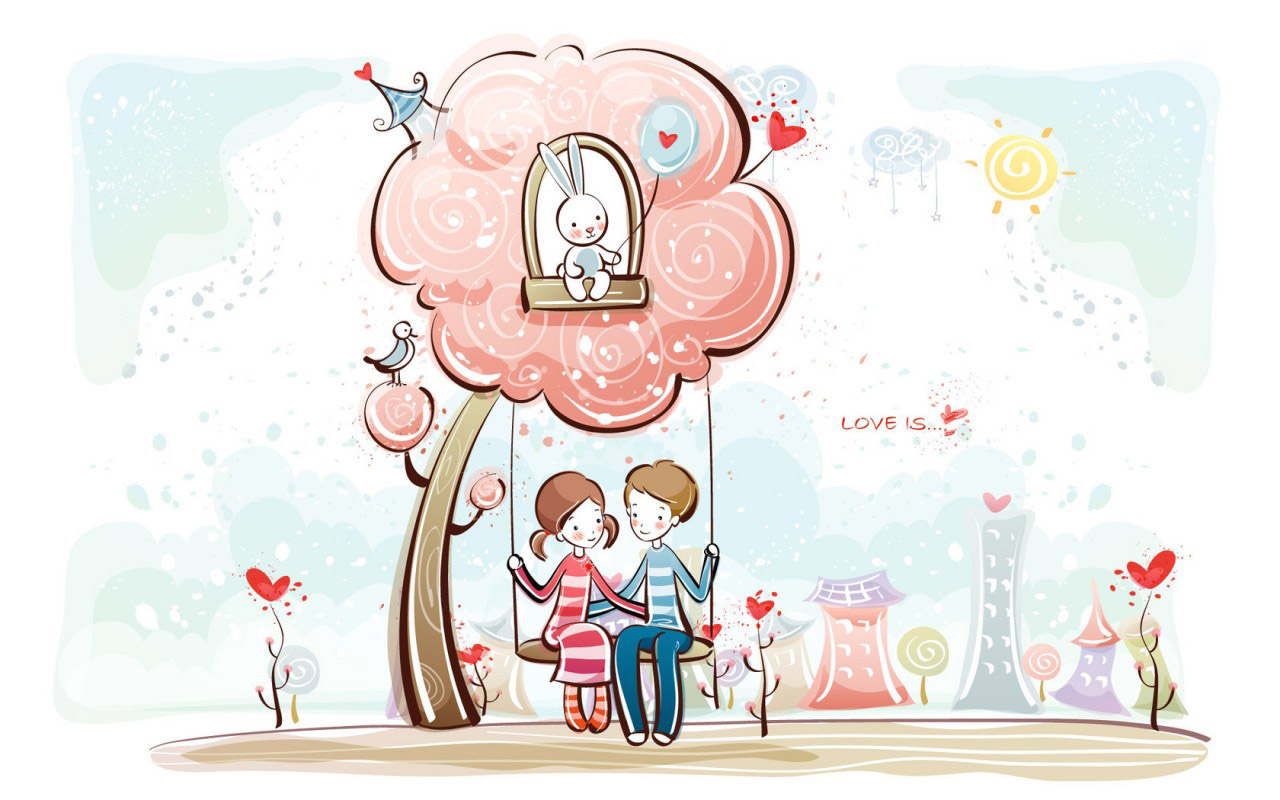 Ảnh đẹp về hoạt hình tình yêu