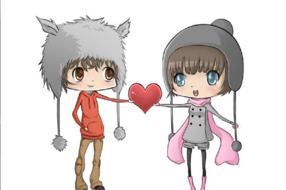 Ảnh tình yêu hoạt hình dễ thương