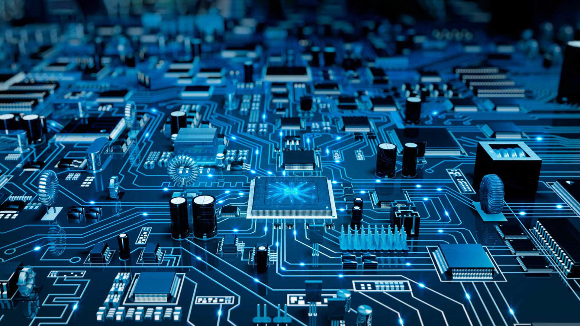 Hình nền công nghệ vi mạch