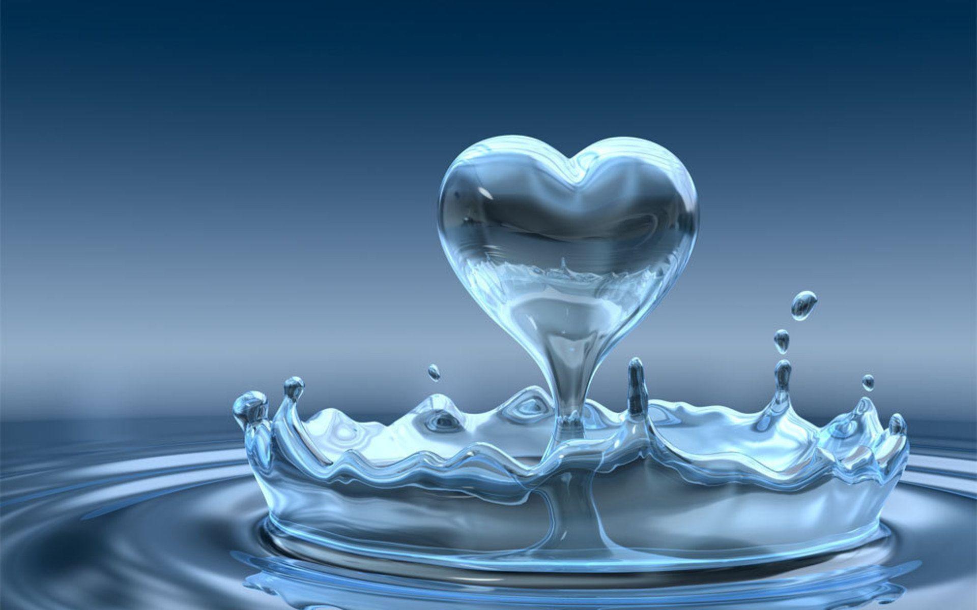 Hình nền nước tình yêu
