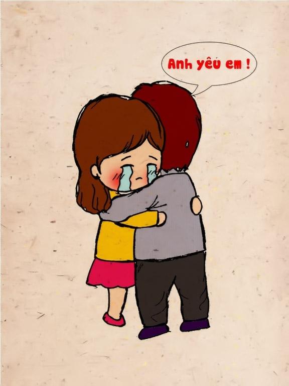Hình vẽ hoạt hình về tình yêu