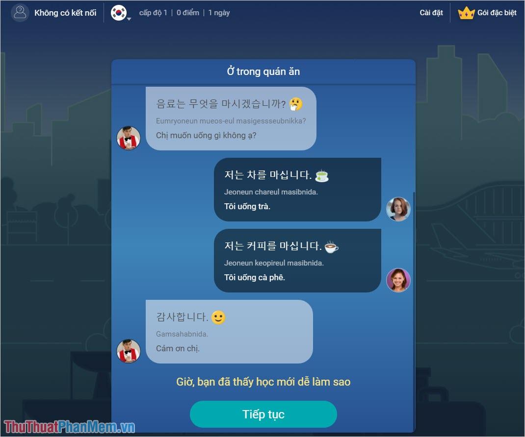 Mondly – Học tiếng Hàn Quốc