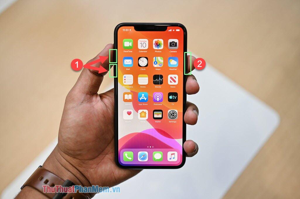 Reset phím cứng cho iPhone 11 11 Pro Max, X, XR, XS XS Max, SE, SE 2020 và iPhone 8 8Plus