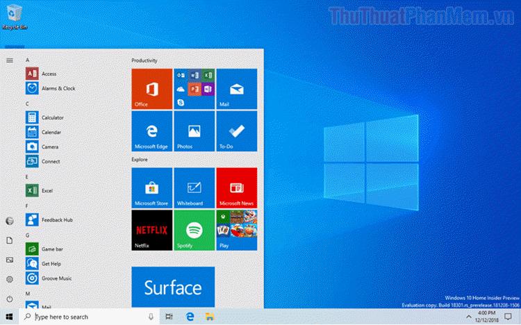 Cách sửa lỗi không mở được Start Menu trên Windows 10