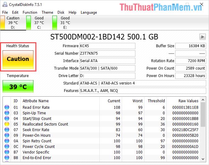 Lỗi ổ đĩa HDD