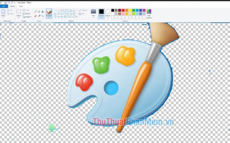 Cách làm nền ảnh trong suốt bằng Paint