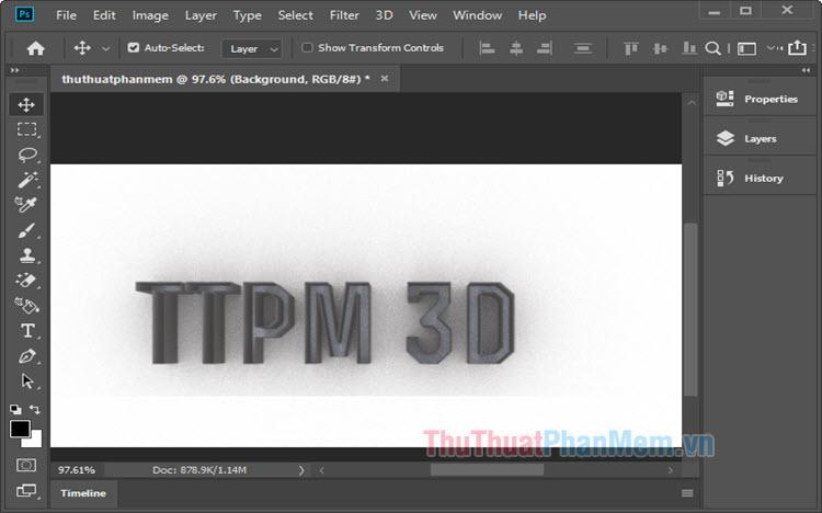 Cách làm chữ 3D trong Photoshop