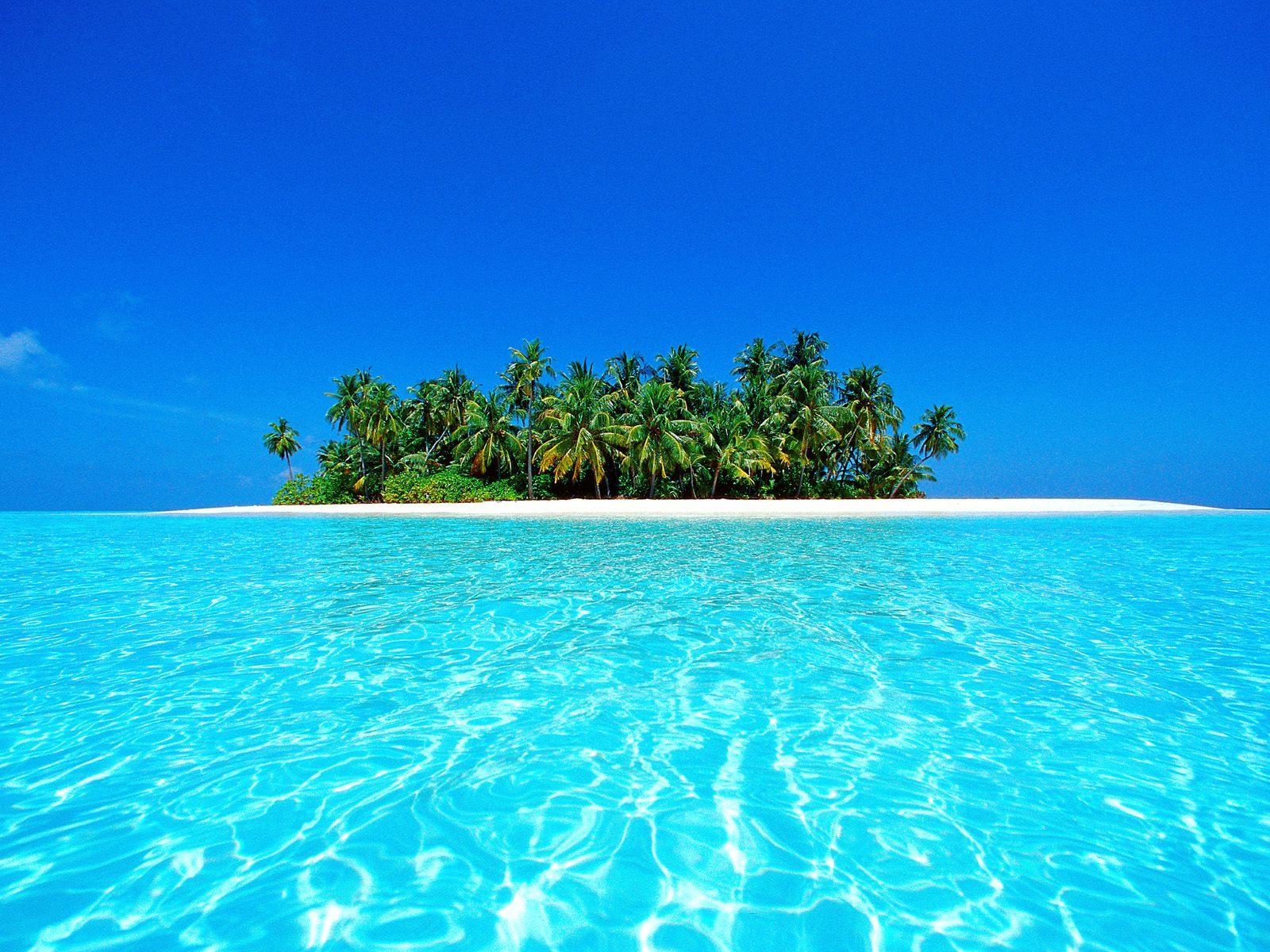 Hình nền nền biển đảo xanh
