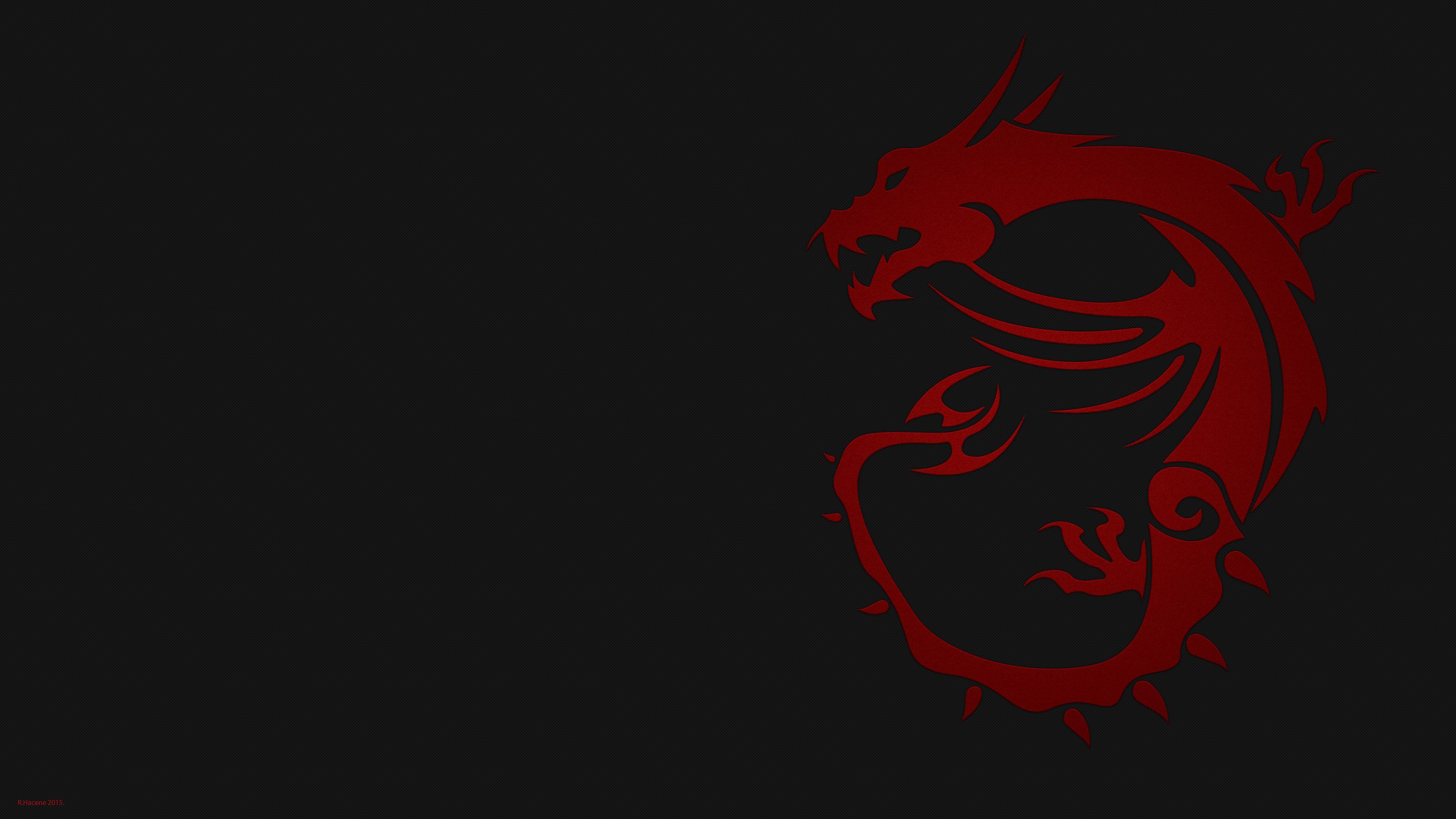Red dragon MSI wallpaper