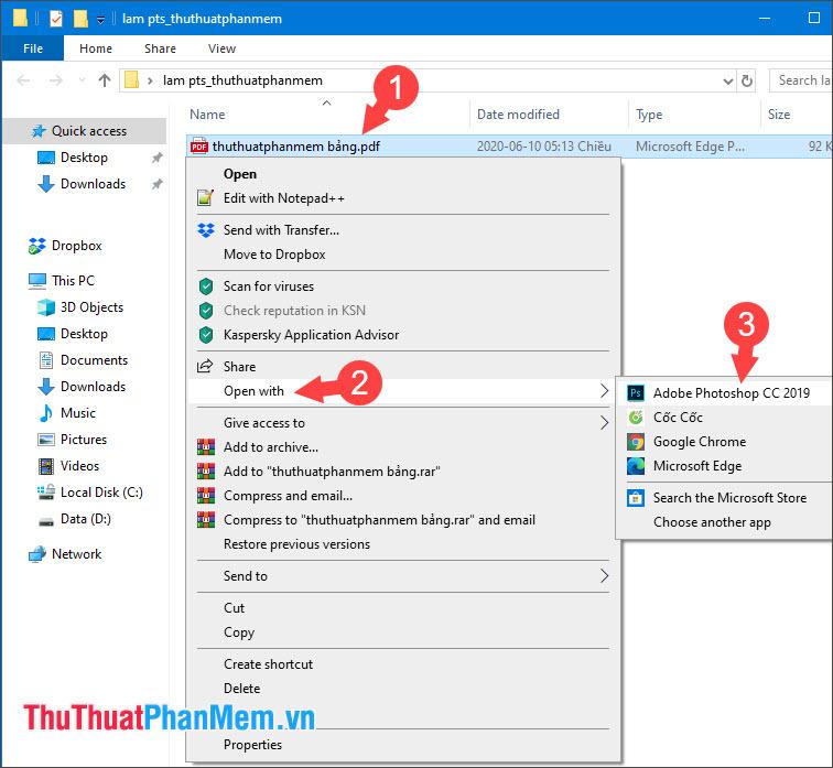 Bạn mở file excel lưu dưới dạng PDF bằng Photoshop