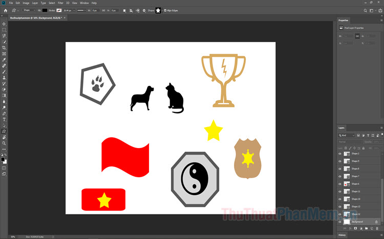 Cách sử dụng Symbol trong Photoshop