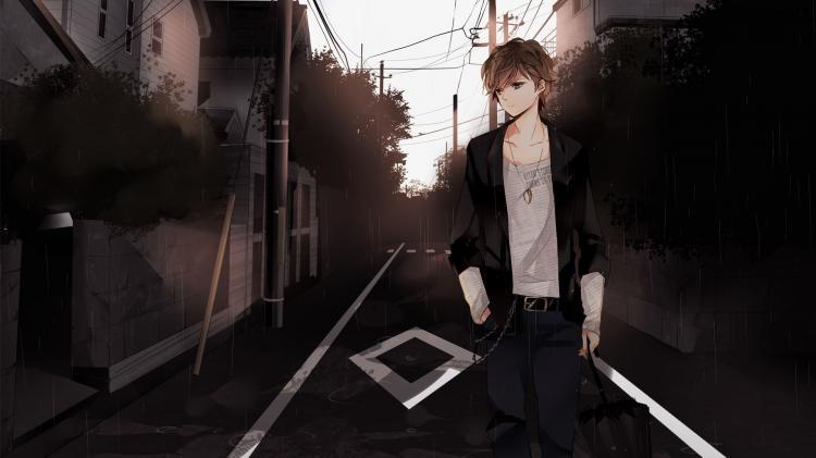 Ảnh anime boy cô đơn
