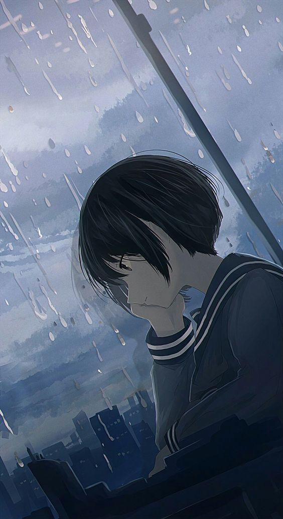 Ảnh anime cô đơn trầm tư