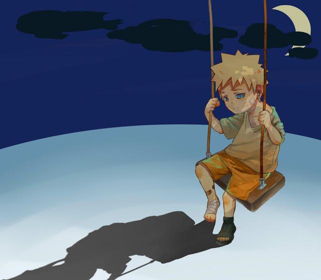 Ảnh anine cậu bé cô đơn