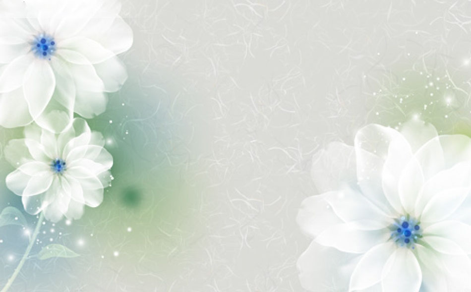 Ảnh background hoa lá 3D