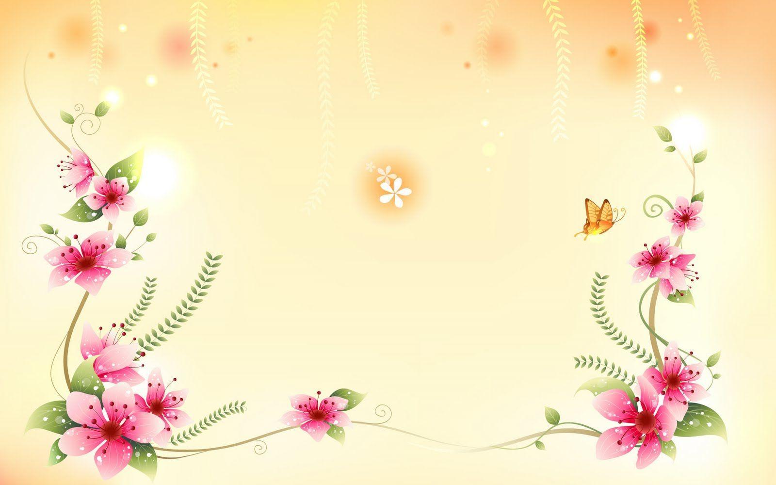 Ảnh background hoa lá mùa xuân
