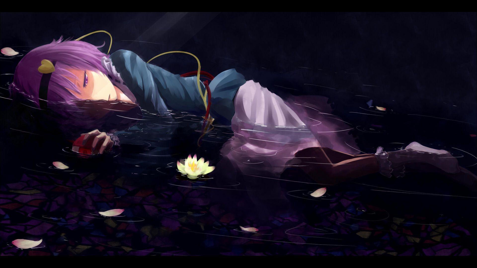 Ảnh nền anime cô đơn buồn